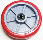 U Boat Stock Cart Wheel 8 x 2 Heavy Duty RED